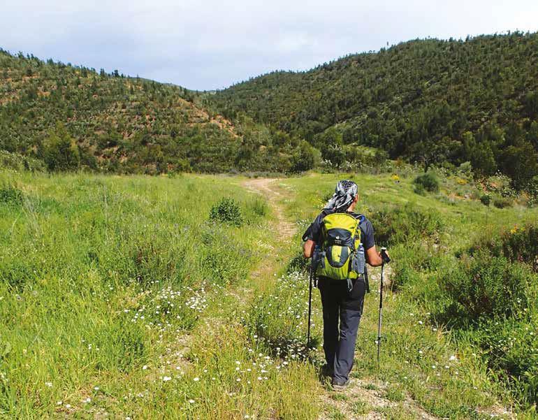 walking with poles portugal via algarviana